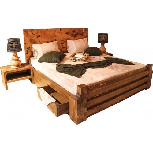 doğal kütük yatak odası