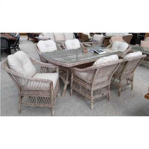 Enzo Nabila Yemek Masası 100×180 cm 6 koltuk